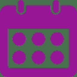 Calendar with circles