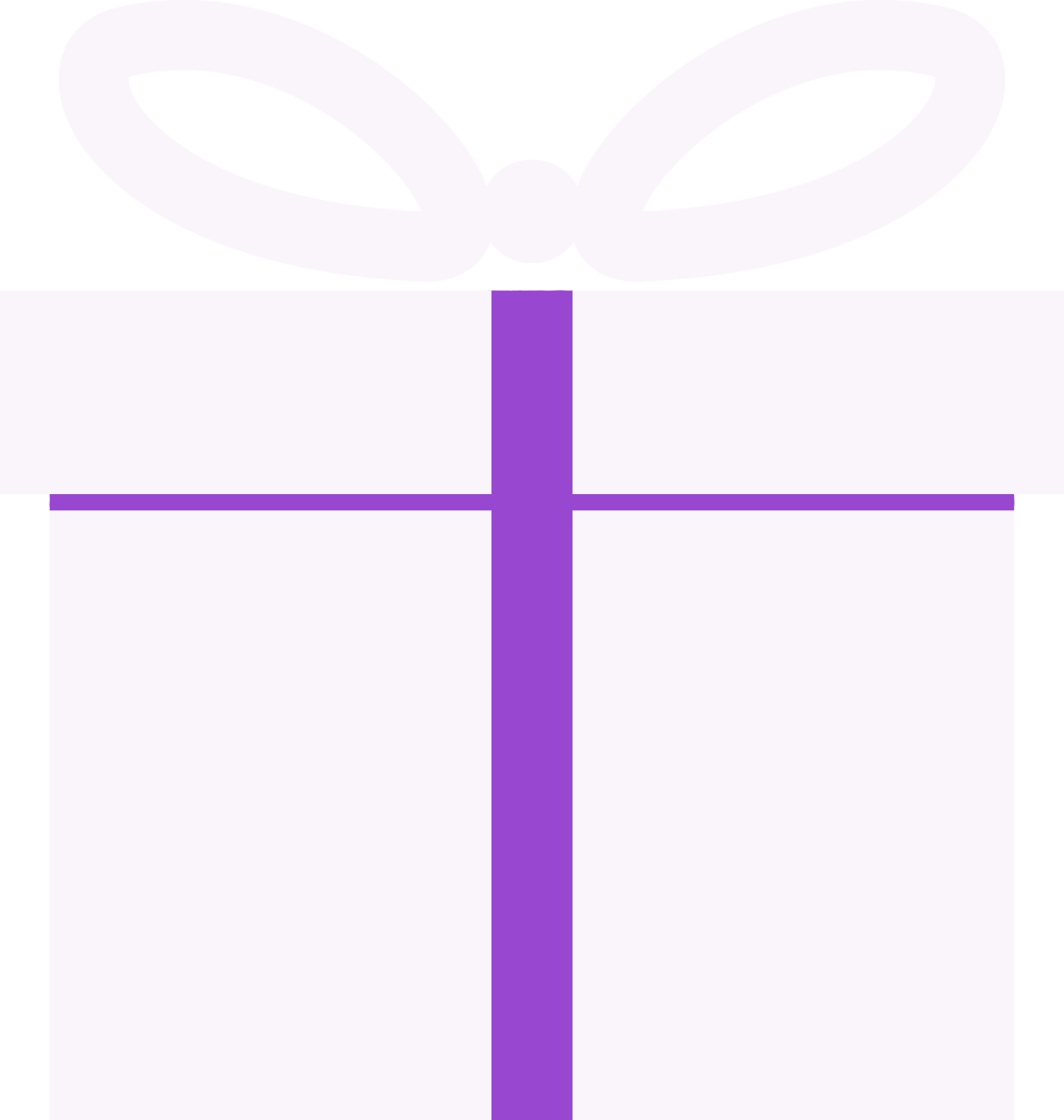 purple and white gift box
